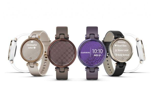 Inteligentny zegarek Bluetooth Garmin Lily Classic Wytrzymałość 5 dni Cykl miesiączkowy Tryby sportowe Liczenie kalorii Liczenie kroków Amortyzacja GPS Powiadomienia Wodoodporność ćwiczenia oddechowe Monitorowanie poziomów stresu Przypomnienie o odpoczynku pulsoksymetr Monitorowanie tętna na nadgarstku