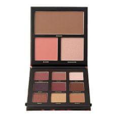 Barry M Paletka očních stínů s rozjasňovačem, bronzerem a tvářenkou Velvet (MultiPurpose Palette)