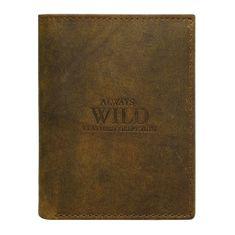 Always Wild Elegantní kožená pánská peněženka hnědá Miki