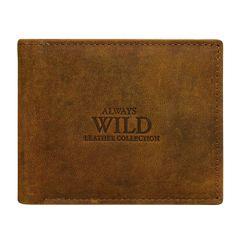 Always Wild Stylová pánská kožená peněženka Ilja hnědá