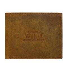 Always Wild Elegantní kožená pánská peněženka hnědá Emilio