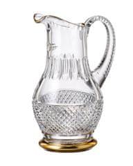 Bohemia Crystal Ručně broušený džbán Felicie Line Gold 1,3l