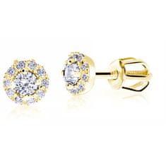 Cutie Jewellery Delikatne kamienieKolczyki żółtego złota Z9002-3100-30-10-X-1