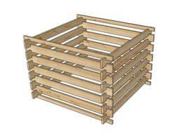 Dřevěný komposter