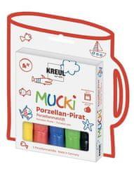 """KREUL Fixky na porcelán """"Muck PIRÁT"""", 5 farieb"""