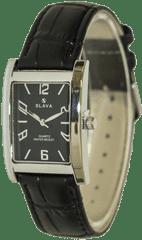 Slava Time Dámské černé hodinky s obdélníkovým pouzdrem SLAVA Barva: černá, Velikost: UNI