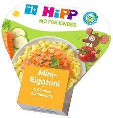 HiPP BIO Mini-Rigatoni se zeleninou ve smetanové omáčce 6 x 250 g