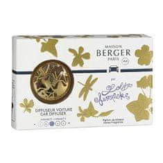 Maison Berger Paris Dárková sada difuzér do auta Zlatý + náplň Lolita Lempicka