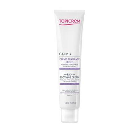 Topicrem Tápláló és nyugtató CALM + bőrkrém(Rich Soothing Cream) 40 ml