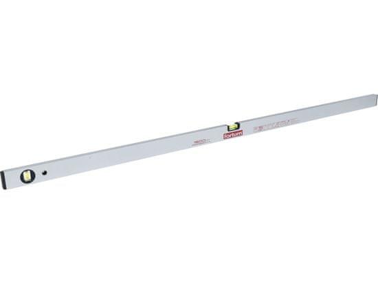 Fortum Vodováha hliníková 1500mm, 2 libely, presnosť 0,5mm/1m, plastové koncovky