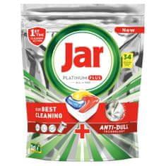 Jar Platinum Plus Všetko v jednom Lemon Kapsule do umývačky 34 ks