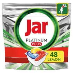 Jar Platinum Plus Všetko v jednom Lemon Kapsule do umývačky 48 ks
