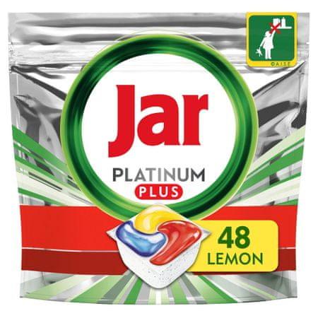 Jar Platinum Plus Sve u jednom Limunske kapsule za perilicu posuđa, 48 komada