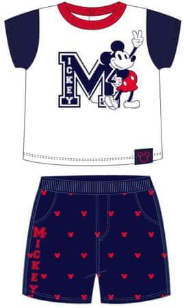 Disney Fiú póló és nadrág szett Mickey 2200006921, 62, fehér