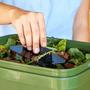 3 - Skaza Bokashi Organko kompostnik, 16 l, črno-zelen + posip 1 kg