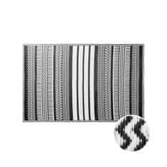 Butlers Vnitřní a venkovní koberec ethno 180 x 120 cm - černá/bílá