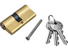 Extol Craft Vložka cylindrická mosadzná, 65mm, 3x kľúč