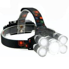 MG TD897 Headlamp žaromet 5x LED, črna