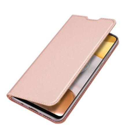Dux Ducis Skin Pro bőr könyvtok Samsung Galaxy A42 5G, rózsaszín