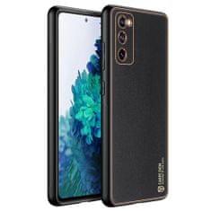Dux Ducis Yolo usnje ovitek za Samsung Galaxy S20 FE 5G, črna