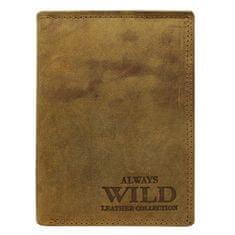 Always Wild Moderní kožená pánská peněženka hnědá George
