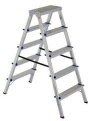 ELKOP Obojstranný schodíkový rebrík DHR 405, 5+5 stupňov, rebrik