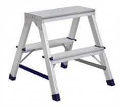 ELKOP Obojstranný schodíkový rebrík DHR 1402, 2+2 stupne, rebrik