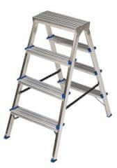 ELKOP Obojstranný schodíkový rebrík DHR 1404, 4+4 stupne, rebrik