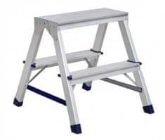 ELKOP Obojstranný schodíkový rebrík DHR 402, 2+2 stupne, rebrik