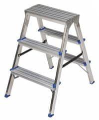 ELKOP Obojstranný schodíkový rebrík DHR 403, 3+3 stupne, rebrik