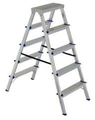ELKOP Obojstranný schodíkový rebrík DHR 1405, 5+5 stupňov, rebrik