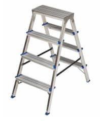 ELKOP Obojstranný schodíkový rebrík DHR 404, 4+4 stupne, rebrik