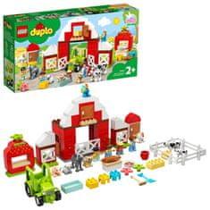 LEGO DUPLO® Town 10952 Hlev, traktor in domače živali
