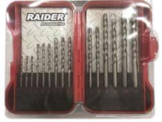RAIDER 15-dijelni set svrdla za beton, 3-10 mm