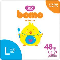 Bomo pemium pants. Plenkové kalhotky premium, L (9-13kg) 48ks