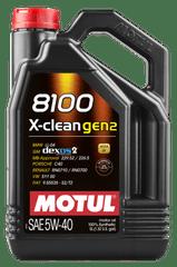 Motul 8100 X-Clean Gen2 motorno ulje, 5W40, 5 l
