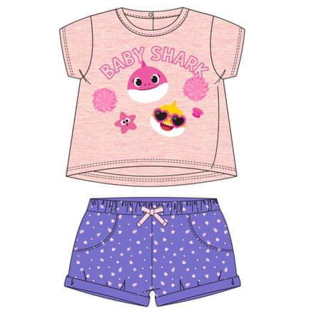Disney 2200006961 Baby Shark set majica i kratkih hlača za djevojčice, ružičasti, 86