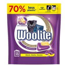 Woolite gélové kapsule na tmavé a čierne prádlo s keratínom 33 ks