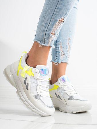 Nőitornacipő 69553 + Nőin zokni Gatta Calzino Strech, fehér, 40