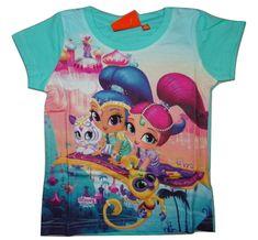 Nickelodeon Dívčí tyrkysové tričko s krátkým rukávem Shimmer Shine