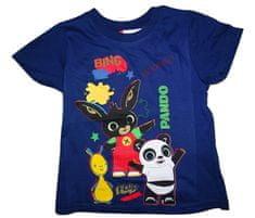 Bing Chlapecké modré tričko s krátkým rukávem a obrázkem králíčka Binga.