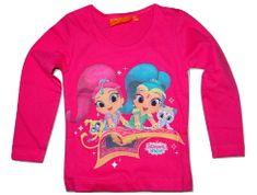 Nickelodeon Dívčí tmavě růžové tričko s dlouhým rukávem Shimmer Shine