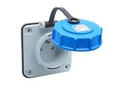 tp electric Zásuvka průmyslová 16A 3P 230V IP68 vestavná vodotěsná IP68 3101-377-0900 TP electric