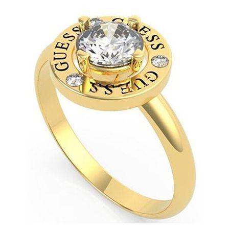 Guess Elegáns aranyozott gyűrű kristállyal UBR20047 (Kerület 56 mm)