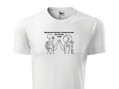 Super plecháček Pánské tričko s potiskem fakt divný Velikost trička: XS, Barva trička Element: Bílá - 00