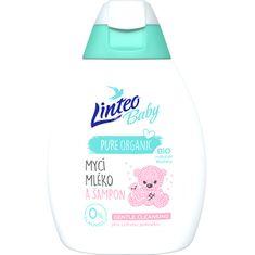 LINTEO Baba tisztító tej és sampon Bio körömvirággal Baby 250 ml