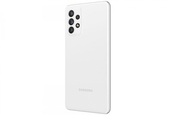 moderný mobilný dotykový telefón smartphone samsung galaxy a72 čítačka odtlačkov prsta krásny elegantný dizajn 5000mAh batéria slot pre microSD karty až 1 tb osemjadrový procesor 64mpx 12Mpx 8mpx 5 Mpx zadný fotoaparát 32mpx predný fotoaparát Gorilla Glass 5 ochrana skla SAMOLED displej nfc párovanie