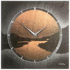 AMS design Designové nástěnné břidlicové hodiny 9513 AMS 30cm