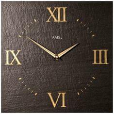 AMS design Designové nástěnné břidlicové hodiny 9517 AMS 30cm
