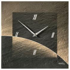 AMS design Designové nástěnné břidlicové hodiny 9519 AMS 30cm